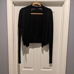 NWOT Black Athleta Crop Sweater